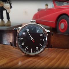 mono militaire aha sur bracelet montre cuir canotage modèle valentia