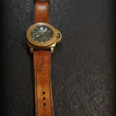 panerai bronzo sur bracelet montre cuir ammo