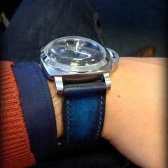panerai luminor sur bracelet montre cuir canotage modèle lofoten