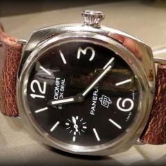 panerai radiomir black seal sur bracelet montre cuir ammo
