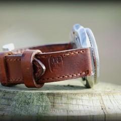 seiko 6105 8110 sur bracelet montre cuir ammo