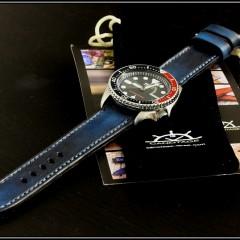 seiko pepsi sur bracelet montre cuir canotage modèle lofoten