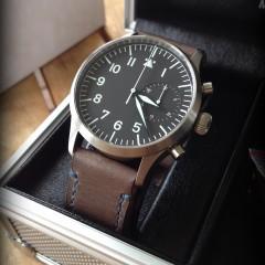 stowa flieger sur bracelet montre cuir canotage modèle fastnet