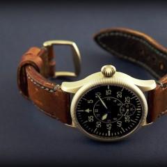 montre b-uhr-aha sur bracelet montre cuir ammo