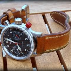 hanhart sur bracelet montre canotage modele molène