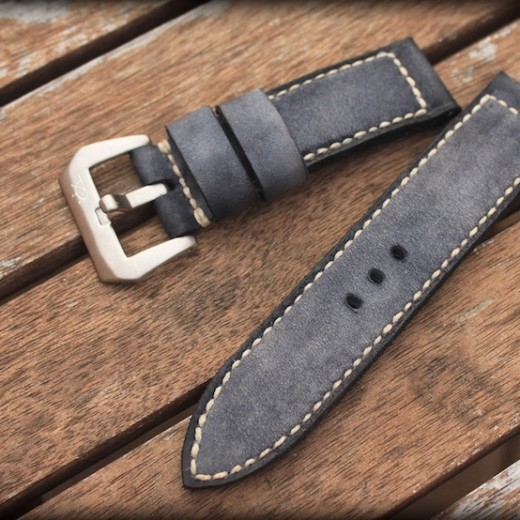 bracelet montre cuir canotage modele kalliste gris