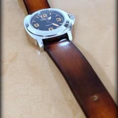 montre lumtec sur bracelet montre cuir canotage modèle valentia