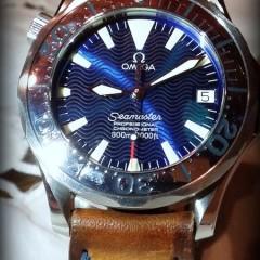 omega seamaster sur bracelet montre cuir canotage modele ischia