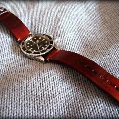rolex submariner sur bracelet montre cuir canotage modele valentia