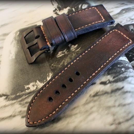 bracelet marron pour une montre Panerai : soldier key