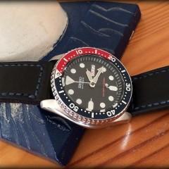 seiko pepsi sur bracelet montre cuir canotage modele dalkey