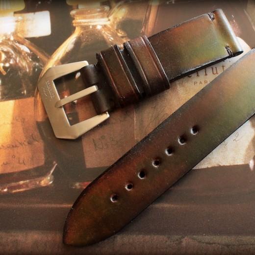 bracelet montre cuir canotage modele patine