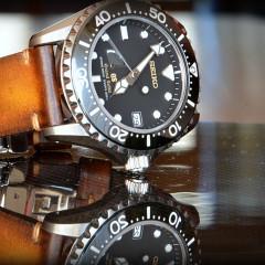 grand seiko sur bracelet montre cuir canotage modèle valentia