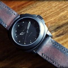 montre lumtec m42 sur bracelet montre cuir canotage modele soldier key