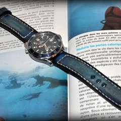 omega seamaster sur bracelet montre cuir canotage modele anaho