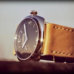 panerai radiomir sur bracelet montre cuir canotage modele lkalliste