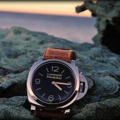 panerai 372 sur bracelet montre cuir ammo