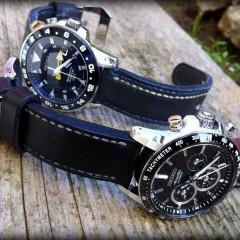 seiko sur bracelet montre cuir canotage