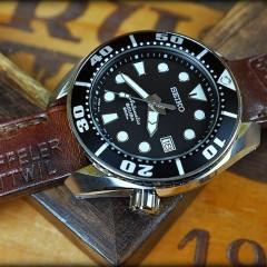 seiko sumo sur bracelet montre cuir ammo