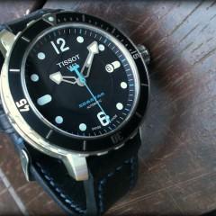 tissot seastar sur bracelet montre cuir canotage modele dalkey