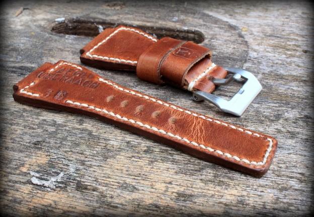 bracelet montre cuir ammo pour montre bell & ross