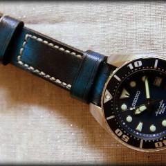seiko sumo sur bracelet montre cuir lofoten