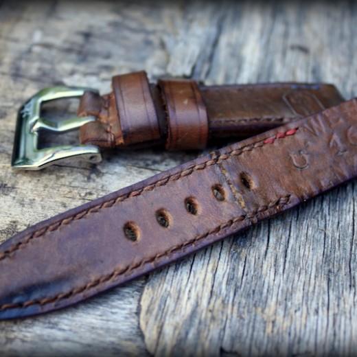 bracelet montre cuir ammo 1916