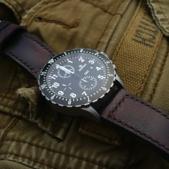 montre damasko sur bracelet montre cuir canotage modele soldier key