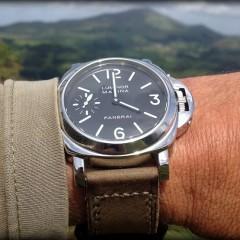 panerai 001 sur bracelet montre cuir canotage modele kalliste kaki