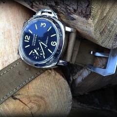 panerai 114 sur bracelet montre cuir canotage modele kalliste kaki