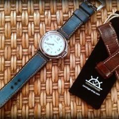 panerai 114 sur bracelet montre cuir canotage modele anaho