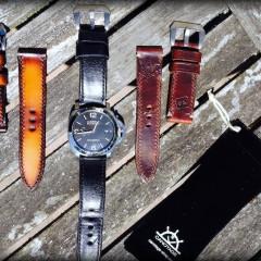 panerai 392 avec bracelet montre cuir valentia et bracelet montre cuir ammo canotage