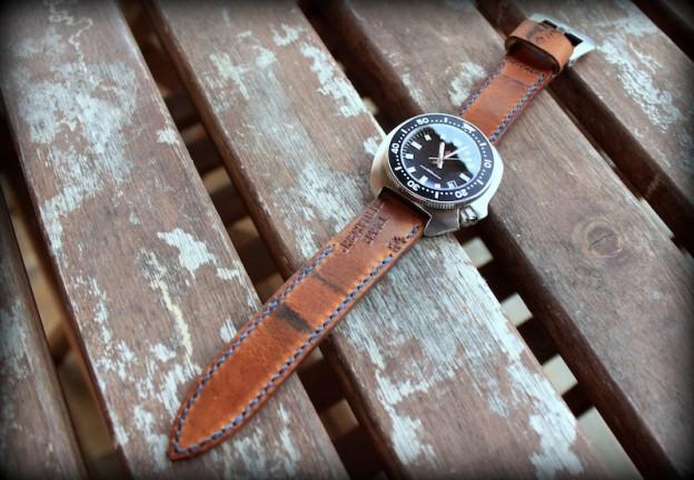 seiko tortue 6309 sur bracelet montre cuir ammo
