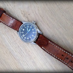 stowa flieger ammo sur bracelet montre cuir ammo