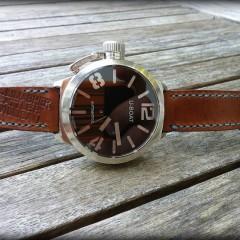 u-boat sur bracelet montre cuir ammo canotage