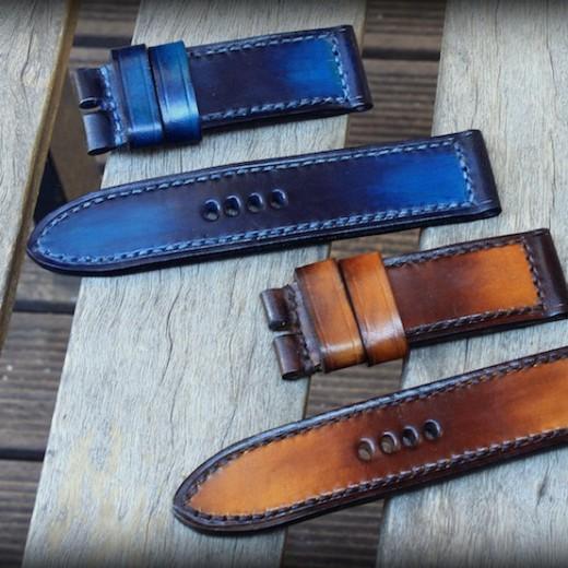 bracelets montres cuir canotage modèles patinés