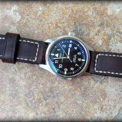 iwc mark xv sur bracelet montre cuir ammo