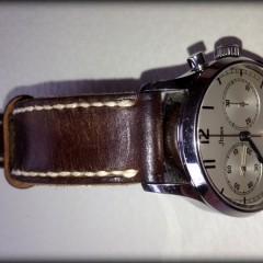 stowa chrono marine sur bracelet montre cuir ammo canotage