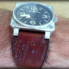 bell & ross sur bracelet montre cuir ammo