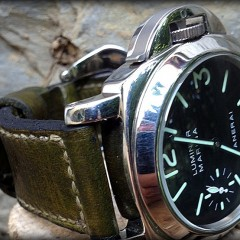 panerai sur bracelet montre cuir Canotage modèle Windley Key
