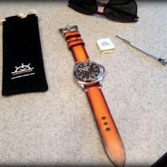 panerai sur bracelet montre cuir canotage modèle valentia