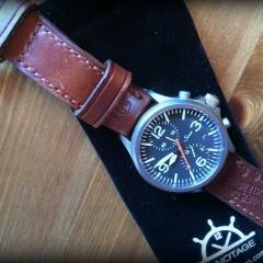 Montre Sinn sur bracelet cuir ammo Canotage