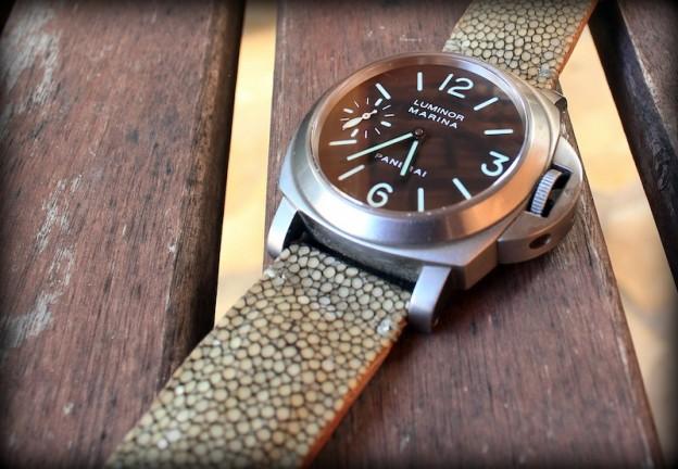bracelet galuchat vert pâle