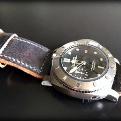 panerai 364 sur bracelet montre ammo noir