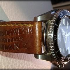 Seiko Sumo sur bracelet montre cuir ammo Canotage