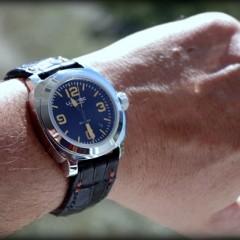 lumtec sur bracelet montre alligator vanuatu noir