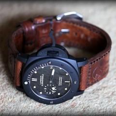 Panerai 508 sur bracelet montre ammo Canotage