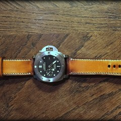 panerai submersible sur bracelet montre patiné soay