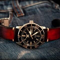 seiko S sur bracelet montre patiné Valentia