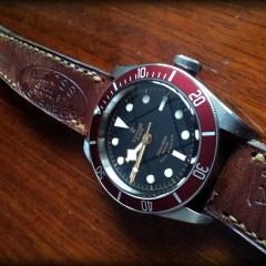 tudor Black Bay sur bracelet montre ammo